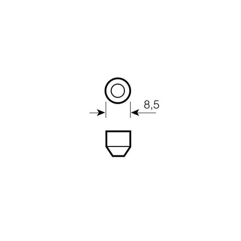 Ampolleta para Automóvil Secundaria / Luz Interior 12V 5W C5W SV8.5-8 Estándar Osram 576418