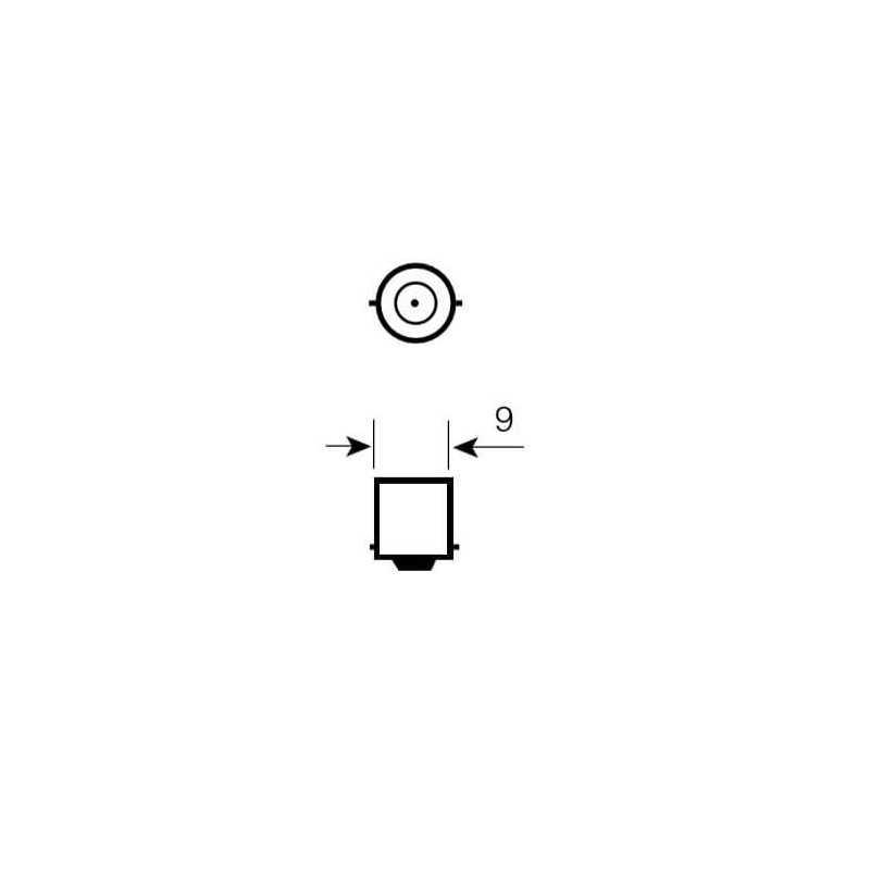 Ampolleta de Señalización para Automóvil 12V 4W T4W Estándar Bosch 111987302817