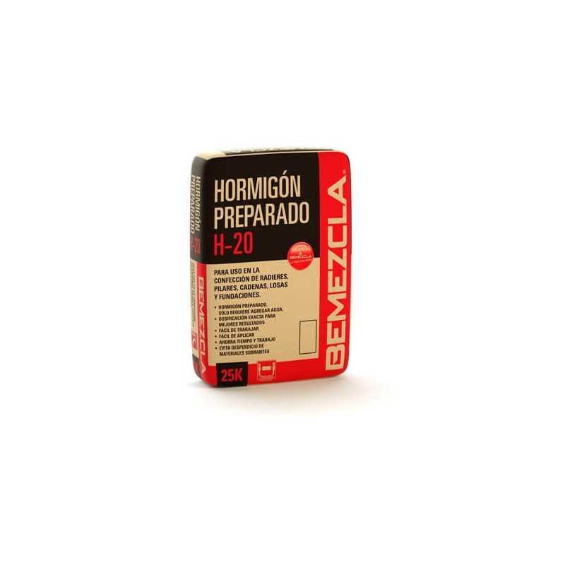 Mortero Hormigón Preparado H-20 25 KG Bemezcla AB-0038