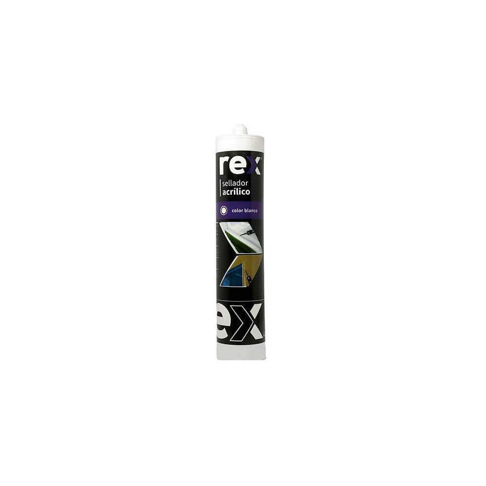 Silicona - Sellador Acrílico Pintable Blanco 300 ML Rex SEL-0010