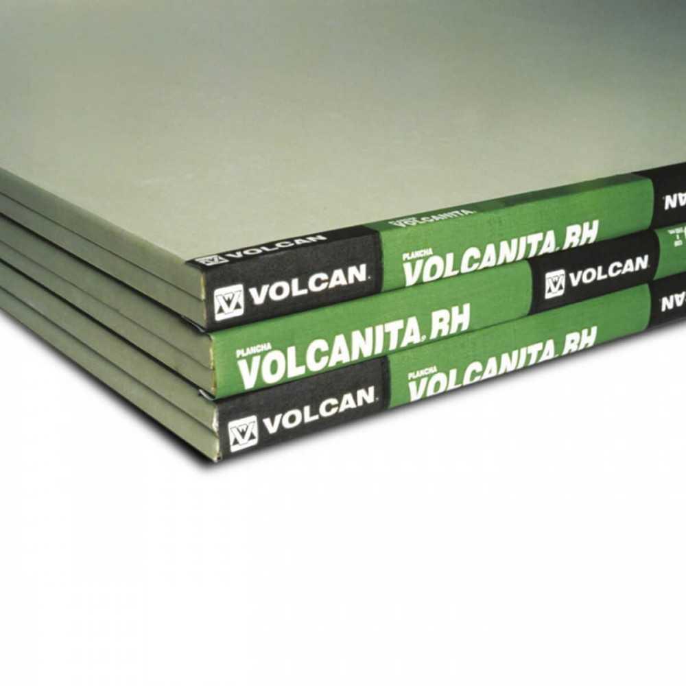 Volcanita RH (Resistente a la Humedad) 12.5mm 1.20X2.40mt Volcan VOL-0012-1