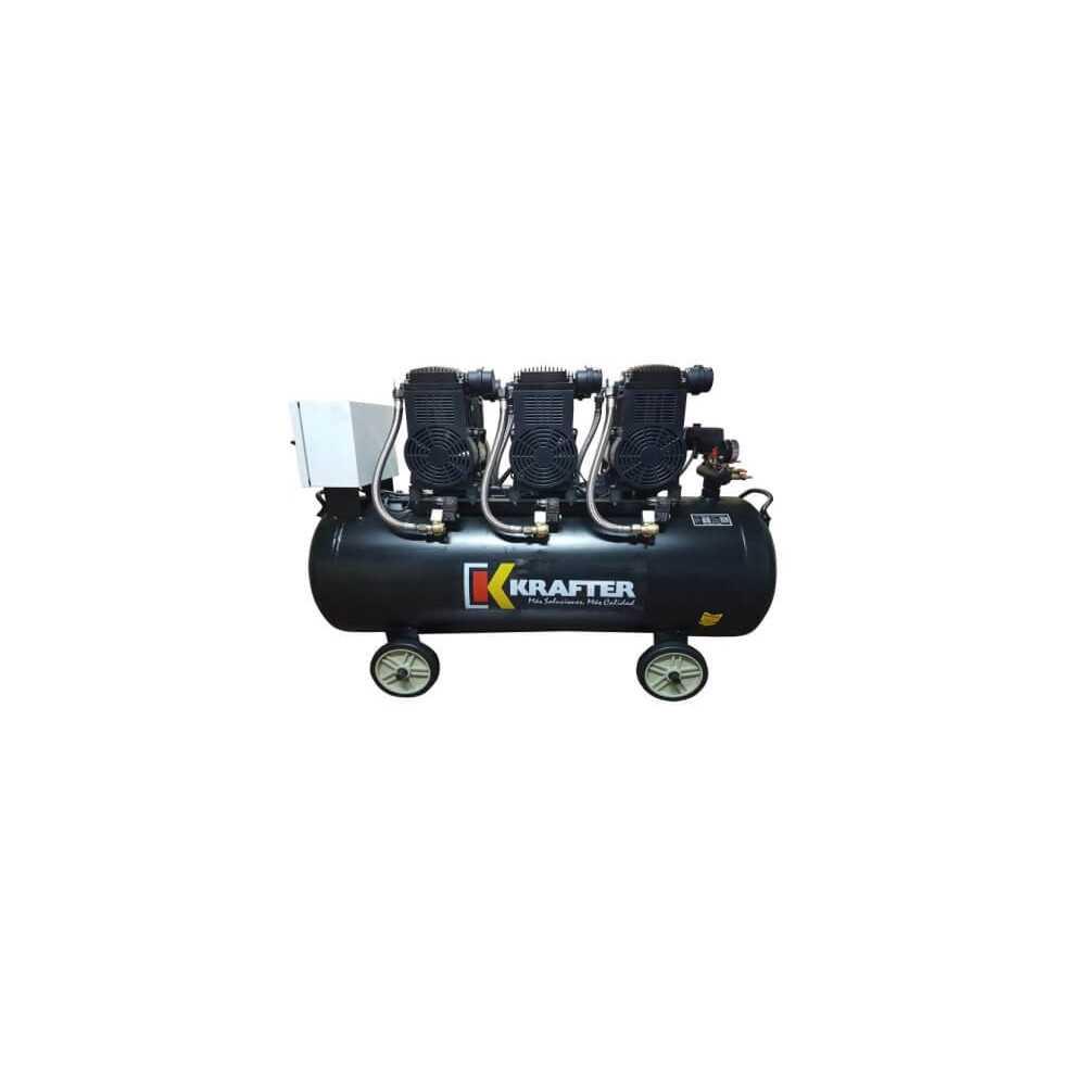 Compresor De Aire Libre De Aceite 1600W X 3 (4800W) 220V 140 Lt Krafter 4449000001600