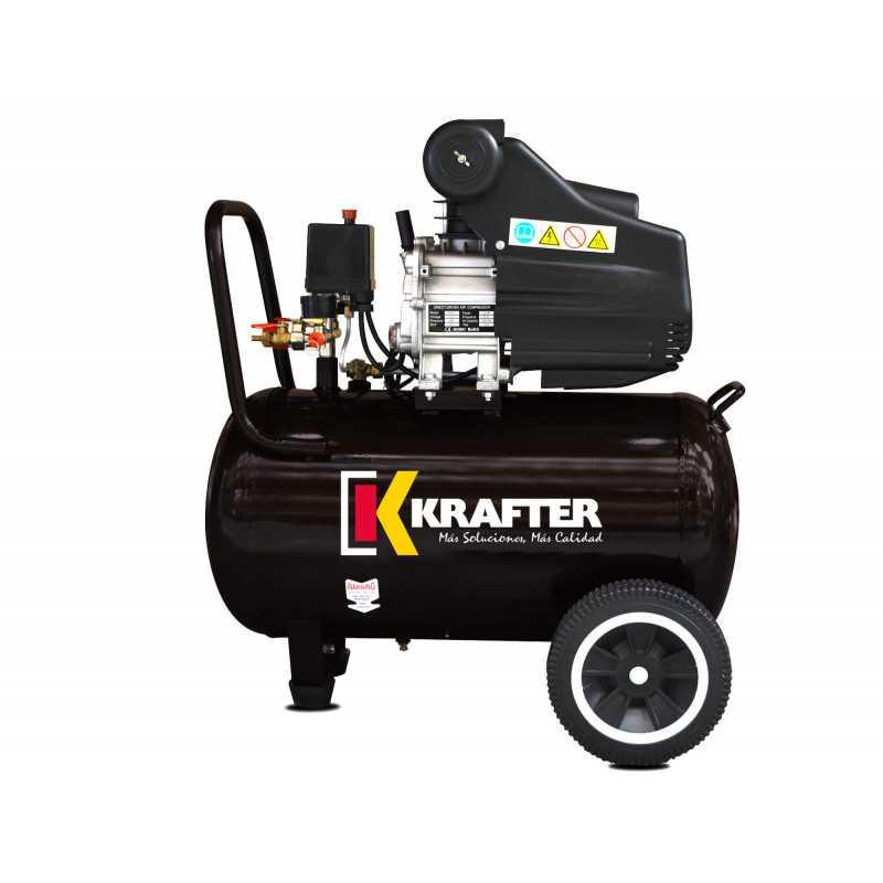 Compresor de 2.5 Hp - ACK 50 Lts + Pistola para pintar y Manguera 10mt Krafter 4418000082721