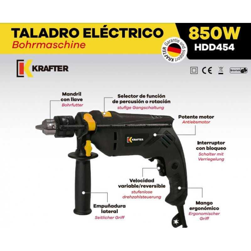 Taladro Percutor 13mm 850W HDD454 Krafter 5112000000244