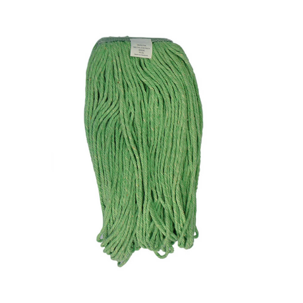 Mopa Verde Cut end Algodón 16 OZ (454 Grs.) caja 12 Und. ABCO 7015002401116
