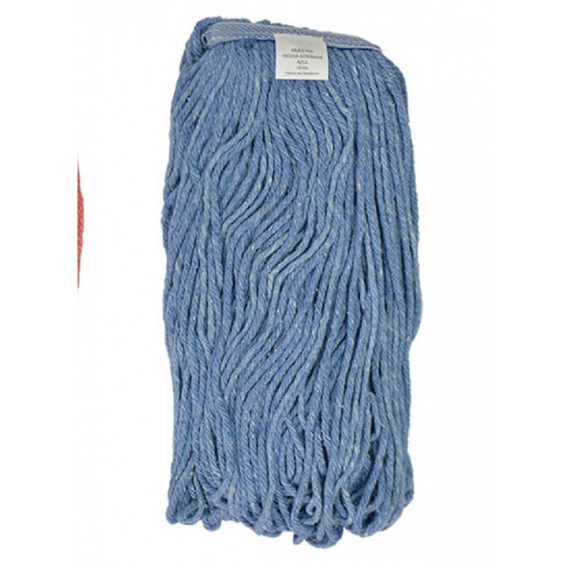 Mopa Azul Cut end Algodón 16 OZ (454 Grs.) caja 12 Und. ABCO 7015002401016