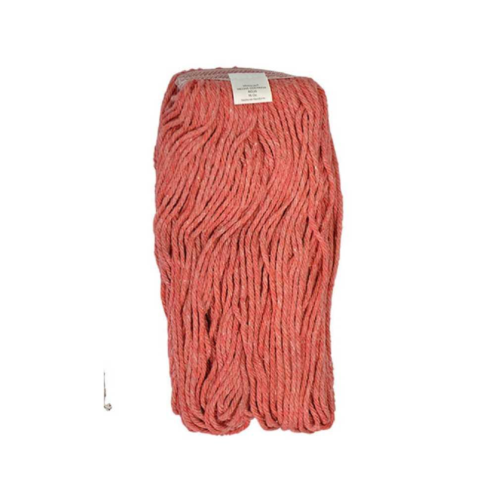Mopa Roja Cut end Algodón 16 OZ (454 Grs.) caja 12 Und. ABCO 7015002401216