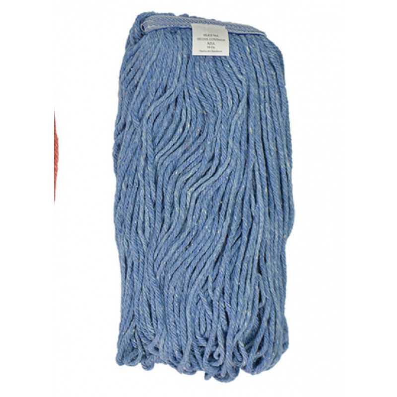 Mopa Azul Cut end Algodón 24 OZ (680 Grs.) caja 12 Und. ABCO 7015002402024