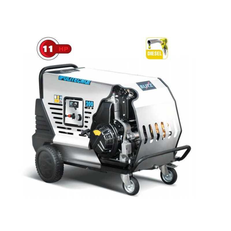 Hidrolavadora Autónoma BLITZ HOT 200.15 - 11HP Diesel Pulitecno 7023093100312