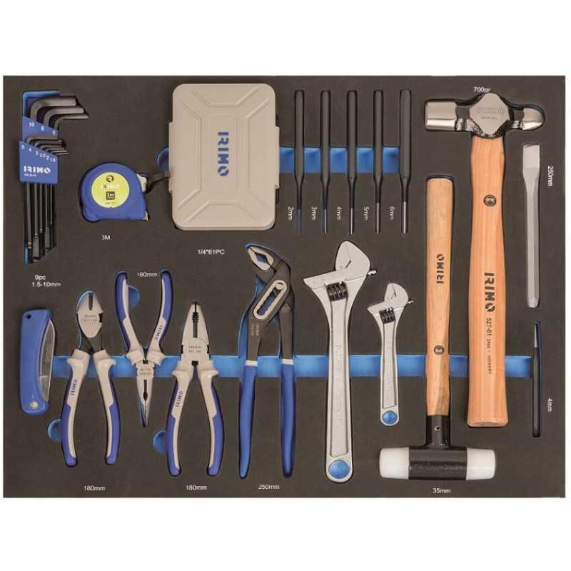 Carro Porta herramientas 222 pzs. 7 cajones Irimo 9066K7FF102