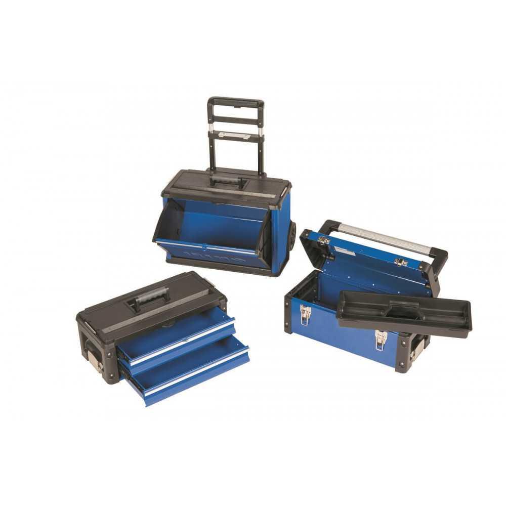 Carro Porta herramientas con 3 cajas apilables sobre ruedasIrimo 9021FTW520
