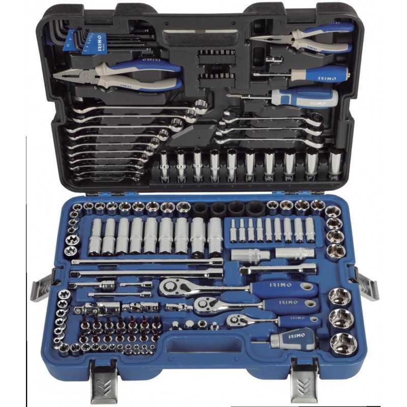 """Juego de Dados MIXTO 1/4"""" - 3/8"""" - 1/2"""" y herramientas 164 piezas Irimo 149-164-4"""