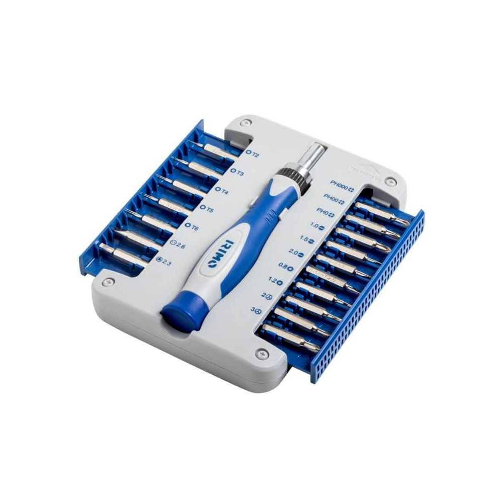 Destornillador de precisión con corta puntas y chicharra. 17 piezas Irimo 471-18-1