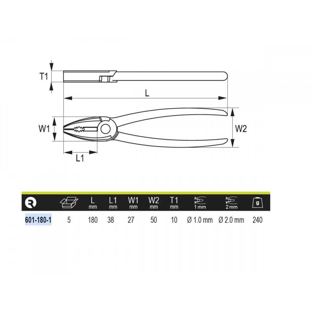 """Alicate Universal 7"""" (180mm) Irimo 601-180-1"""