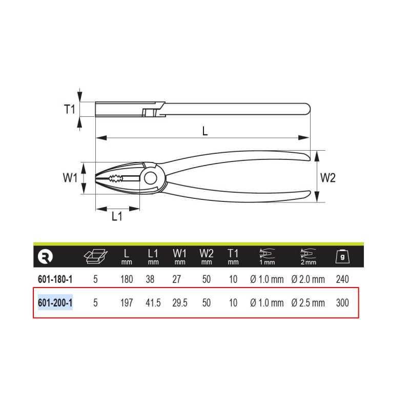 """Alicate Universal 8"""" (200mm) Irimo 601-200-1"""