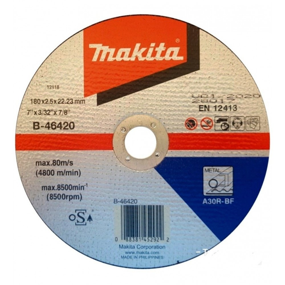 Discos Corte 180mm (7'') Makita Metal B-46420