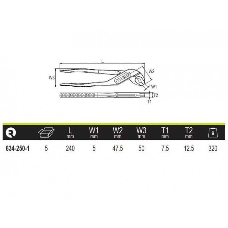 Llave de TuboPico De Loro 240mm Irimo 634-250-1