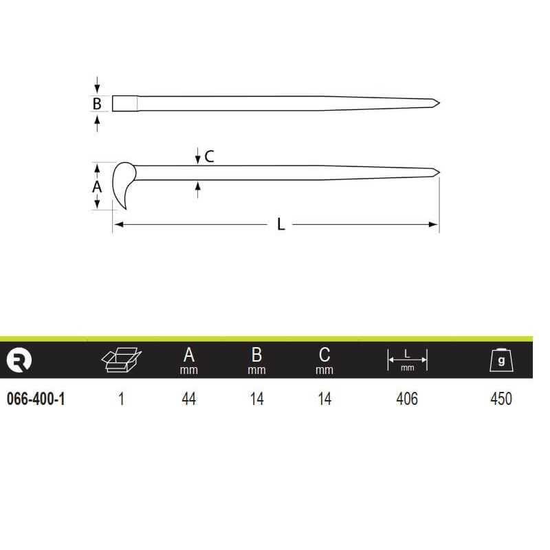 Palanca Polivalente 90° 406 mm Irimo 066-400-1
