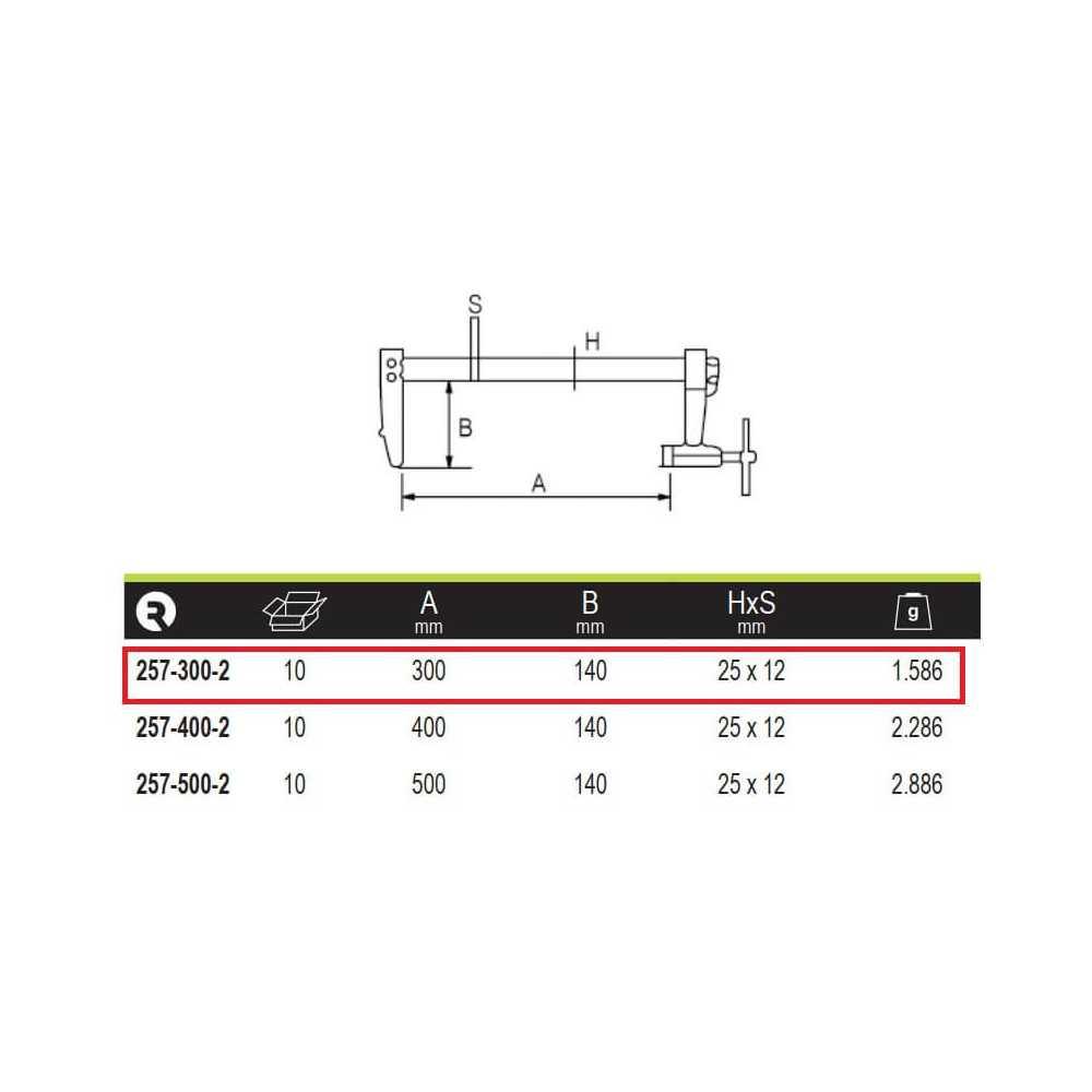 Prensa Profesional De Trinquete 300x140 mm Irimo 257-300-2