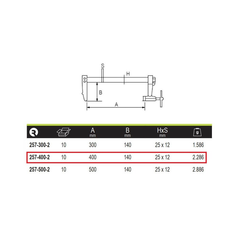 Prensa Profesional De Trinquete 400x140 mm Irimo 257-400-2