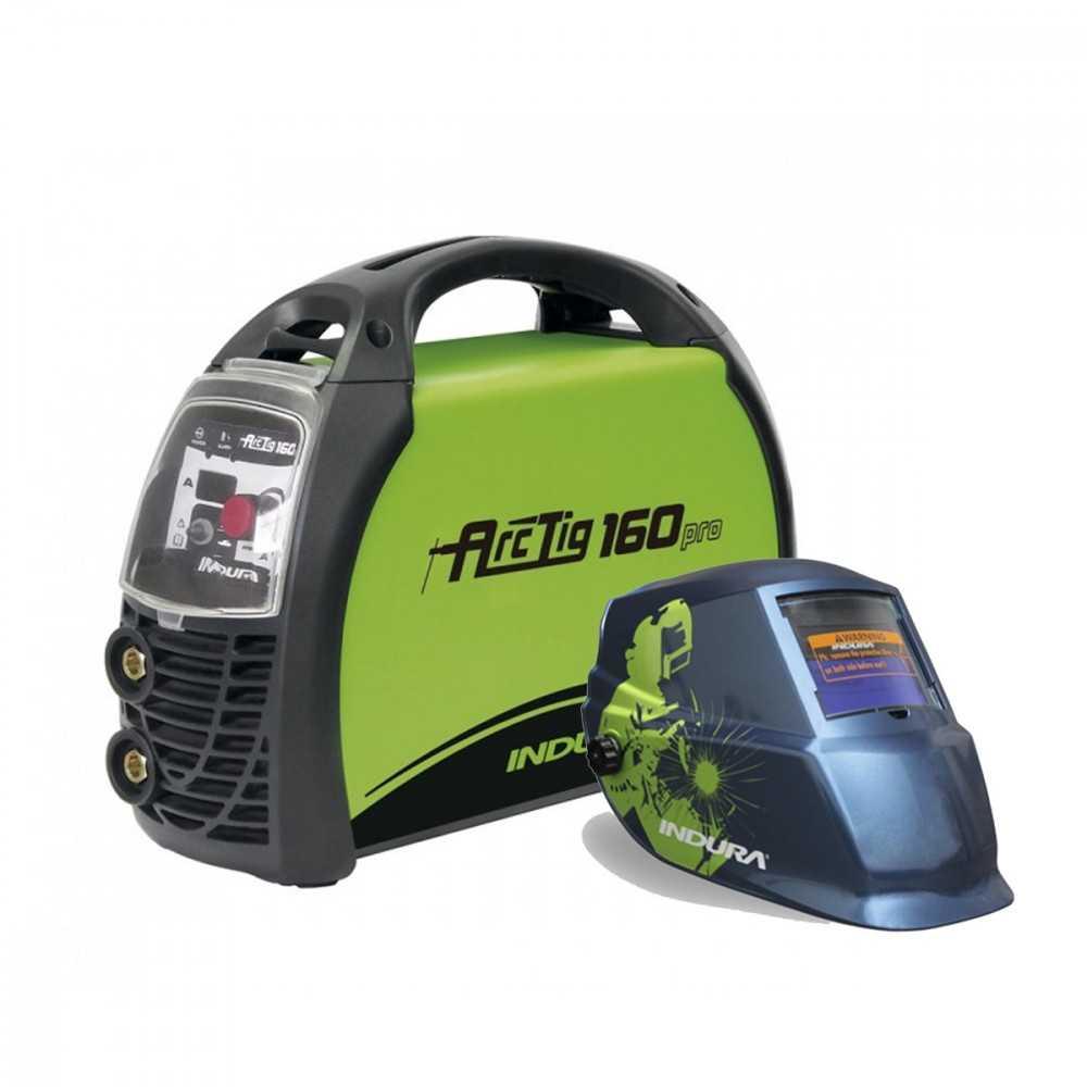 Soldadora 160A Arctig 160 Pro + Máscara de Soldar Fotosensible Welder Indura 4005932