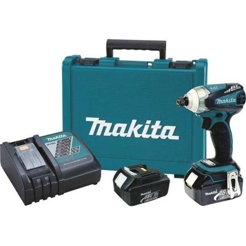 Atornillador de Impacto Inalambrico 18V+ 2 baterías+ cargador Makita DTD148RFE