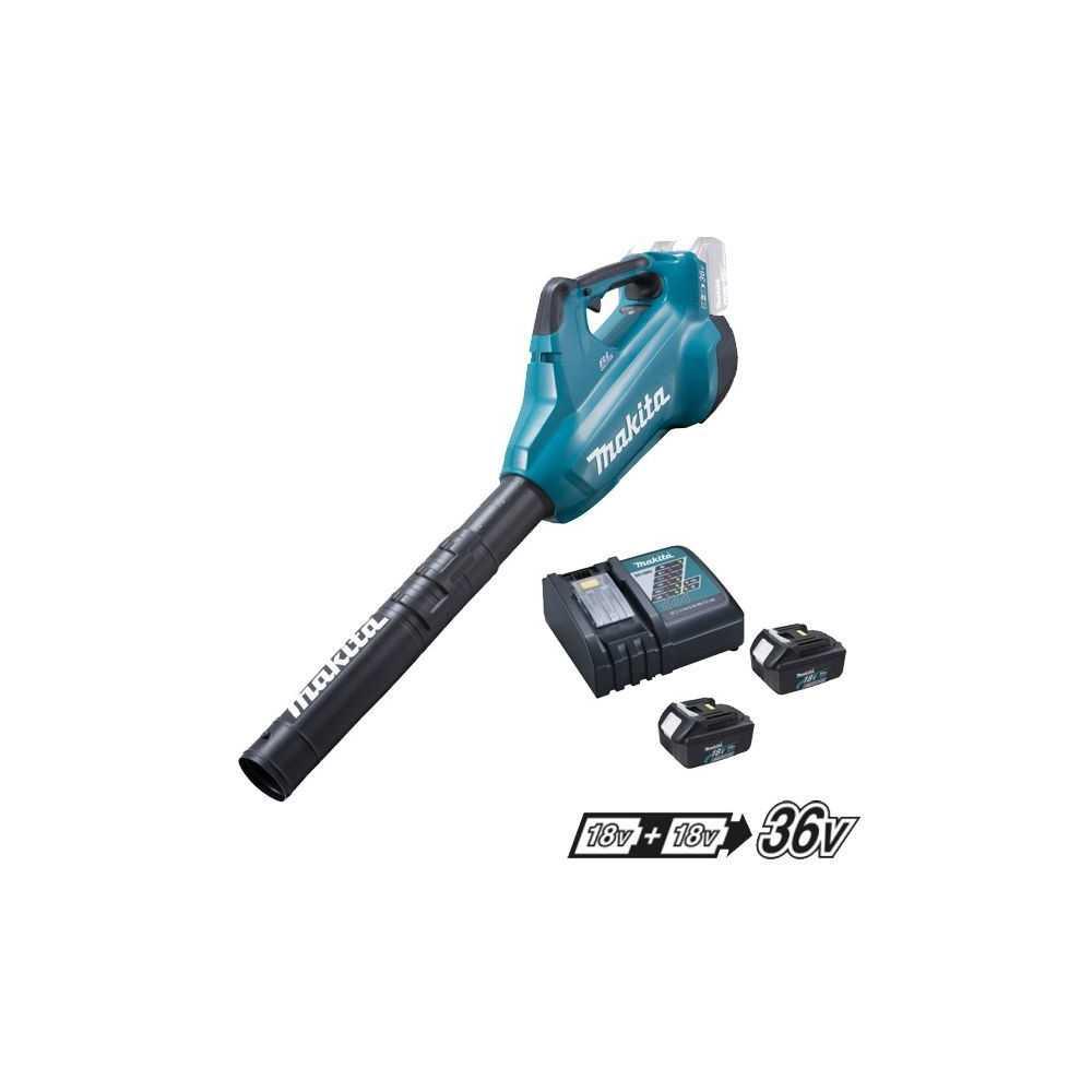 Soplador de Aire Inalambrico 18Vx2 (2 baterías + cargador) Makita DUB362RM2