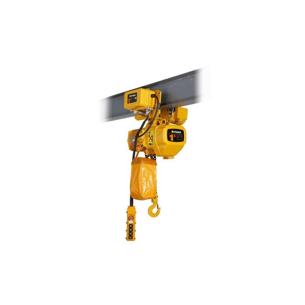 Tecle Eléctrico 1T 6M Industrial con Trolley 220V EHC01 Itaka 181021