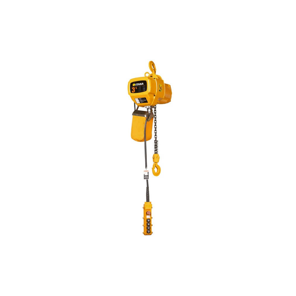 Tecle Eléctrico de Doble Velocidad 3T 6M Industrial 380V HBD03-01D Itaka 181072
