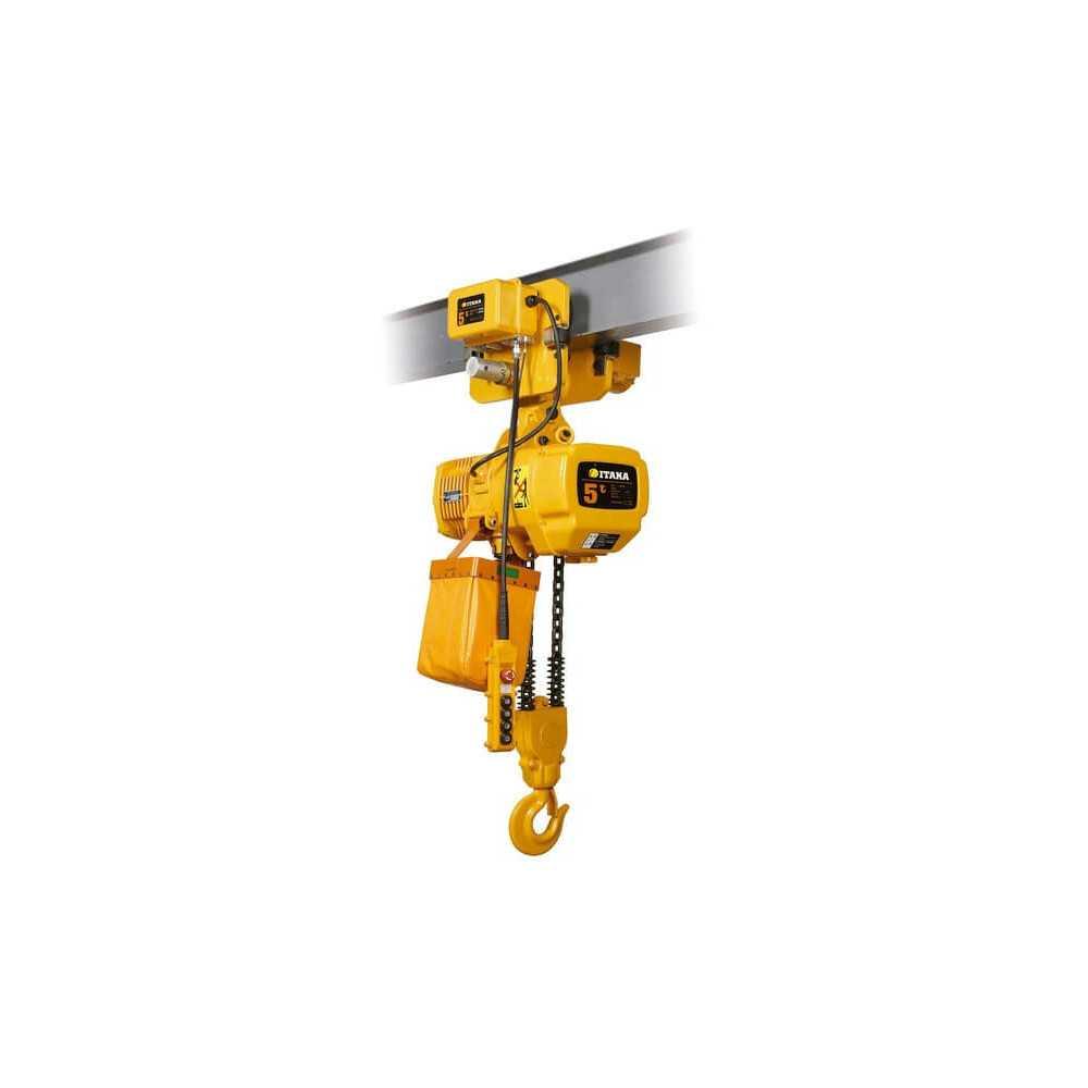 Tecle Eléctrico de Doble Velocidad 5T 6M Industrial con Trolley 380V HBD052D Itaka 181077