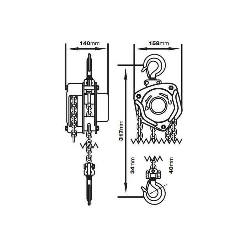 Tecle Cadena Manual 1.0T 3.0M 622A-1.0 Itaka 521002