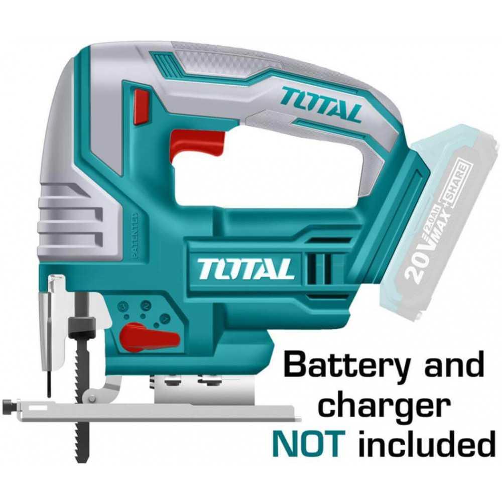 Sierra Caladora Inalámbrica 20V Sin Batería ni Cargador Total Tools TJSLI8501