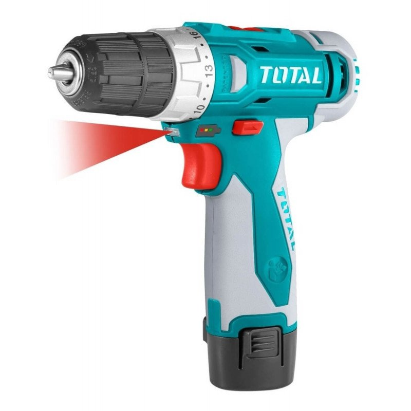 Taladro Atornillador Inalámbrico 10MM 12V 20NM Total Tools TDLI228120-1