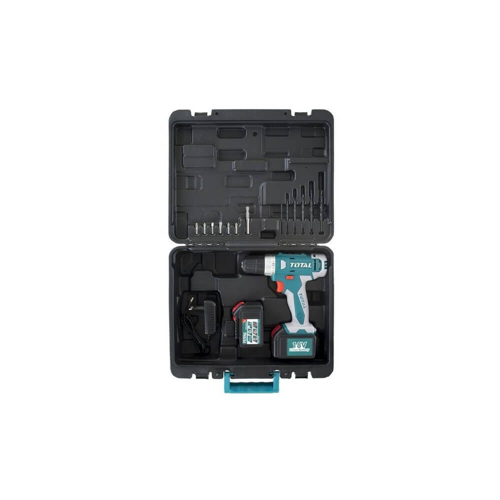 Taladro Atornillador Inalámbrico 10MM 18V 30NM + 13 Accesorios Total Tools TDLI228180