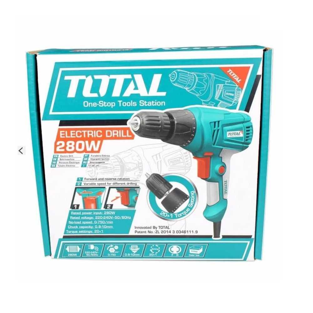 Taladro Atornillador Eléctrico 10mm 280W Total Tools TD502106