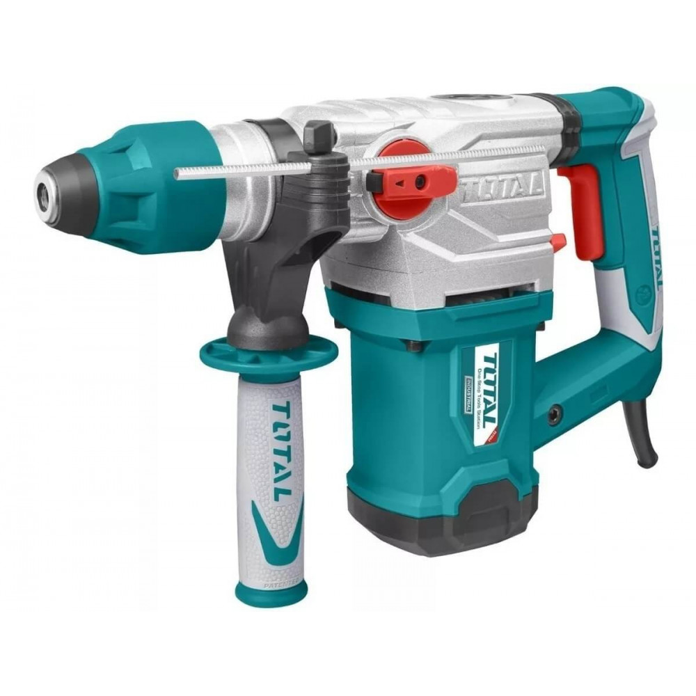 Rotomartillo 1500W SDS-PLUS + 3 Brocas + 2 Cinceles Total Tools TH115326