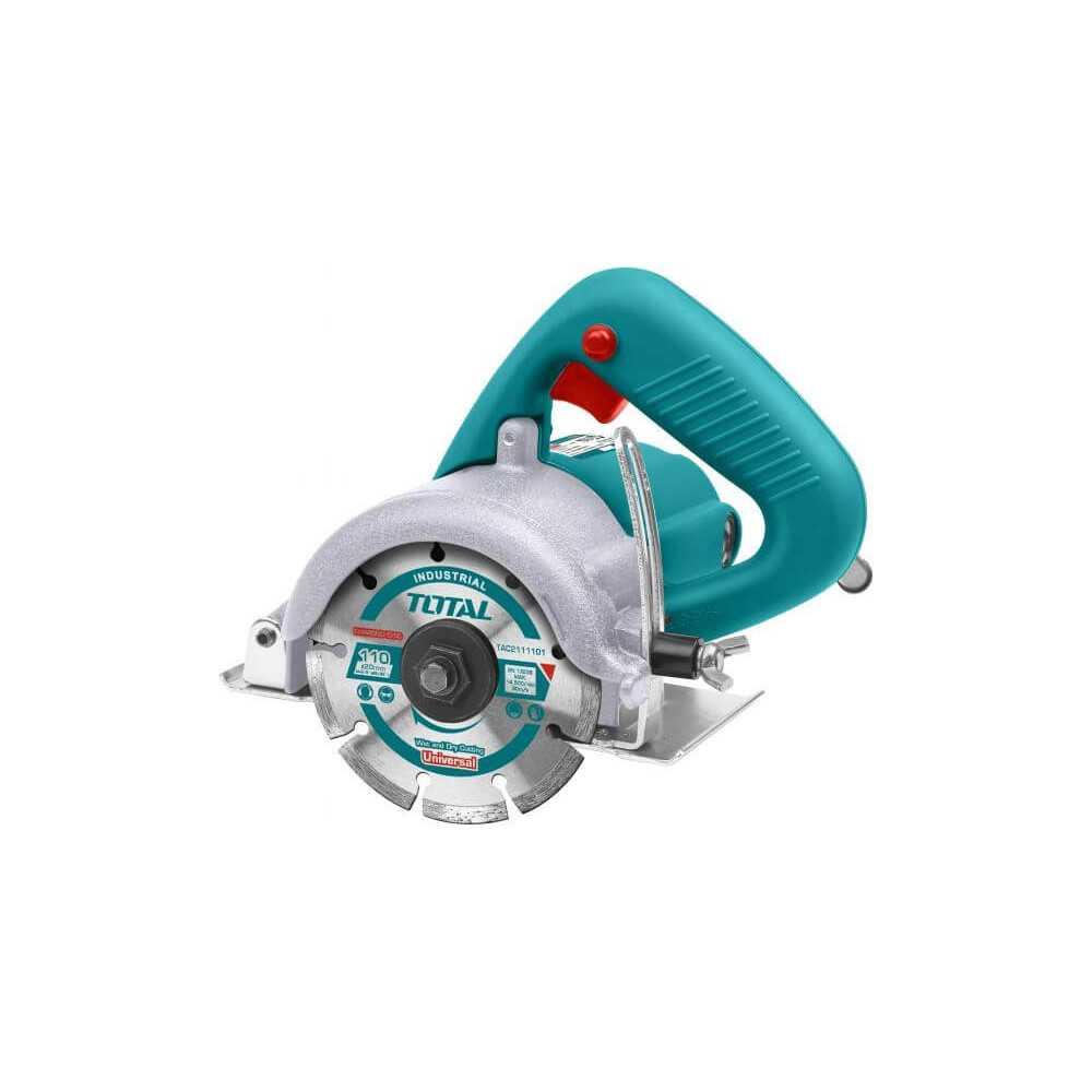 """Cortadora de Marmol 1400W 110mm (4-3/8"""") Total Tools TS3141102"""