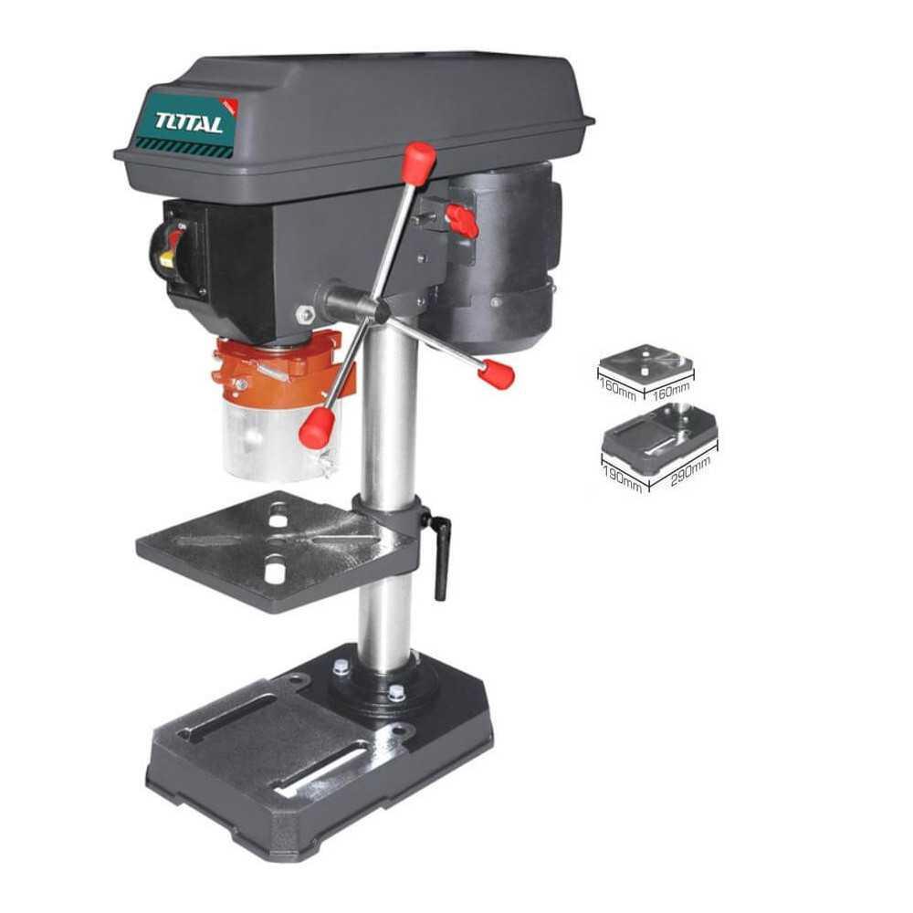 Taladro de Pedestal 350W 13MM Total Tools TDP133501
