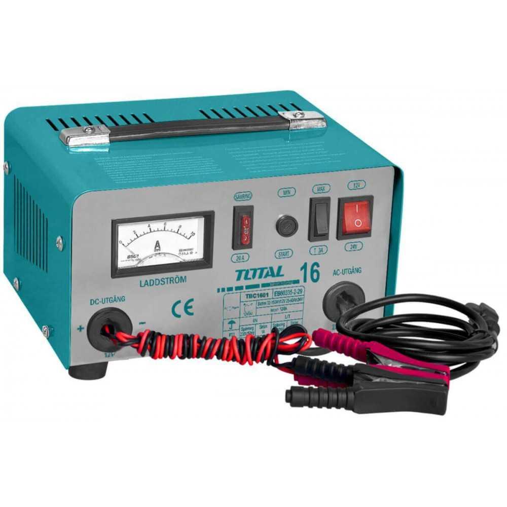 Cargador de Batería 12A 24V Total Tools TBC1601