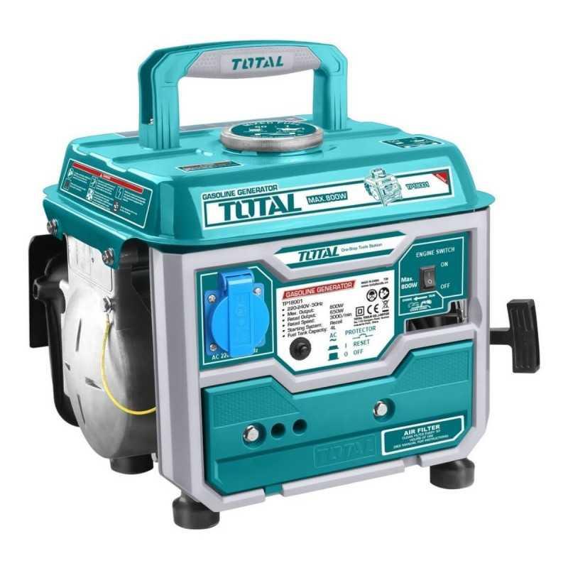 Generador Eléctrico a Gasolina 800W Total Tools TP18001