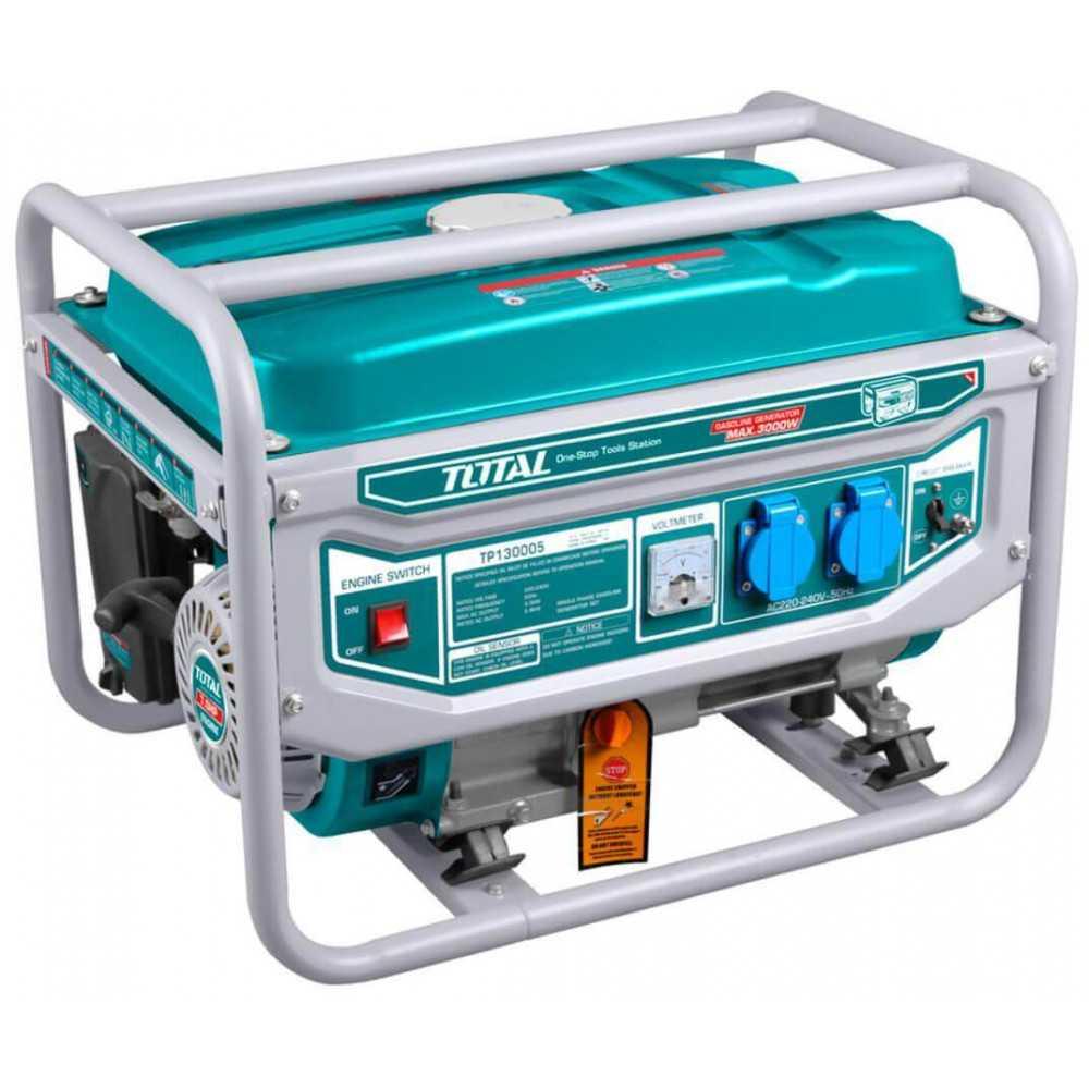 Generador Eléctrico a Gasolina 3000W Arranque Manual Total Tools TP130005