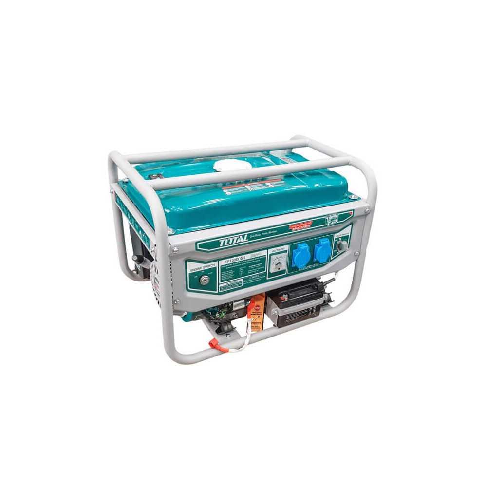 Generador Eléctrico a Gasolina 3000W 3Kva Arranque Eléctrico Total Tools TP130005-1