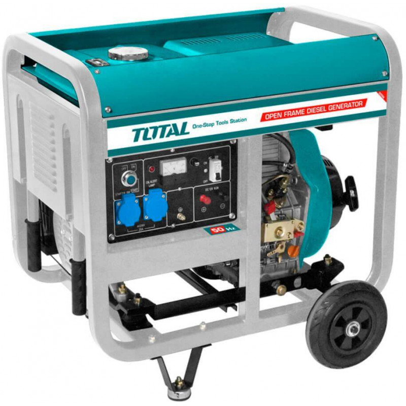 Generador Eléctrico Diésel 5000W Arranque Eléctrico Total Tools TP450001
