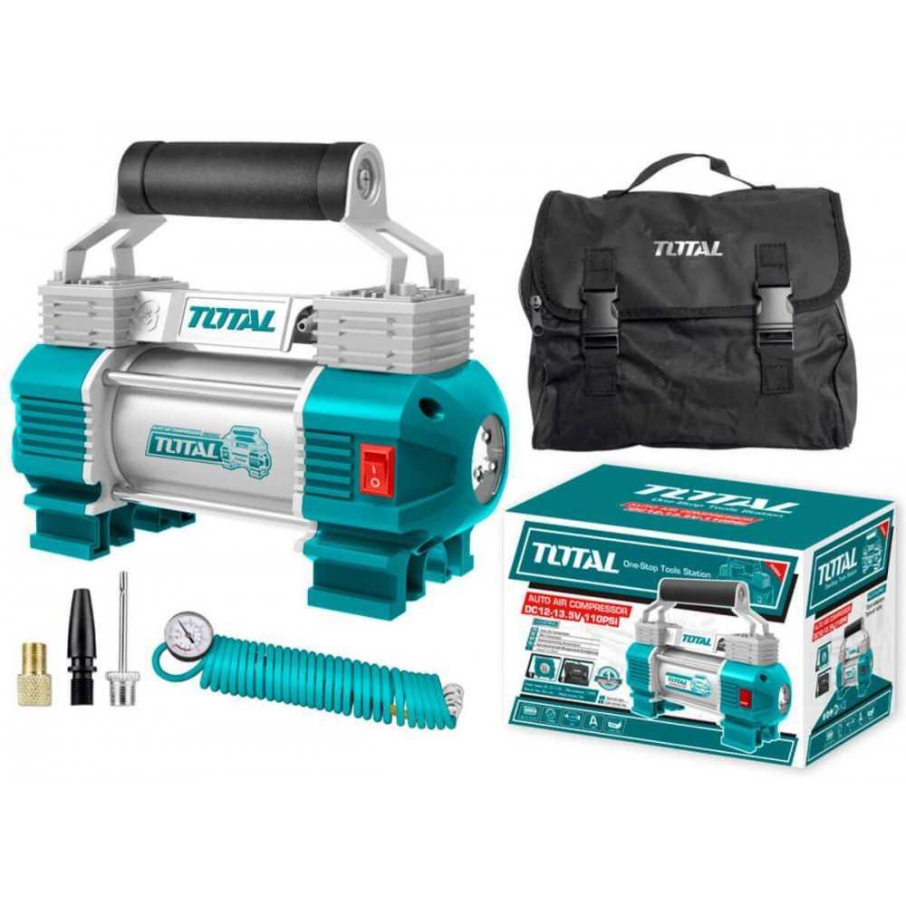 Compresor de Aire para Auto 12V 110PSI Con Luz Total Tools TTAC2506