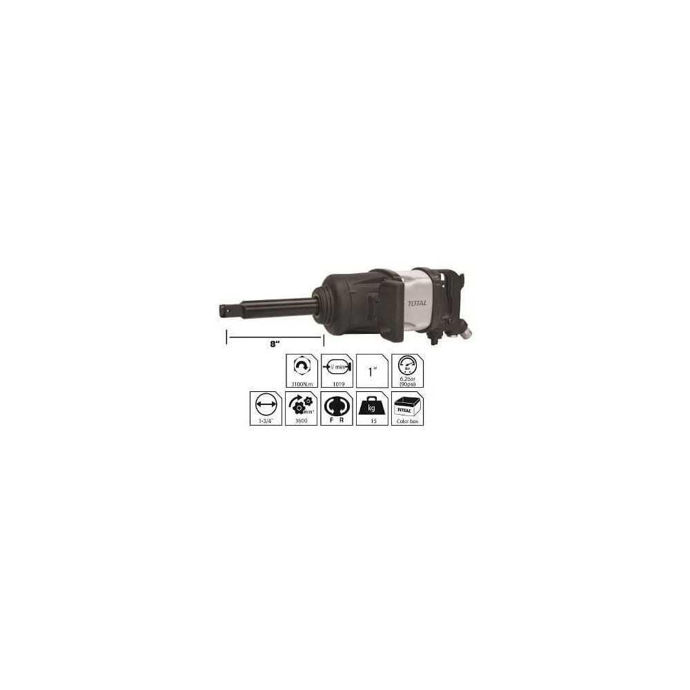 """Llave de Impacto Neumática 1"""" 3100 Nm Total Tools TAT40111"""