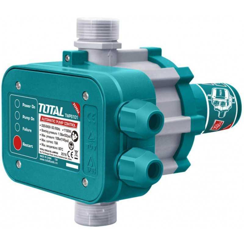 """Control Automático de Bomba de Agua 1100W 1""""x1"""" Total Tools TWPS101"""