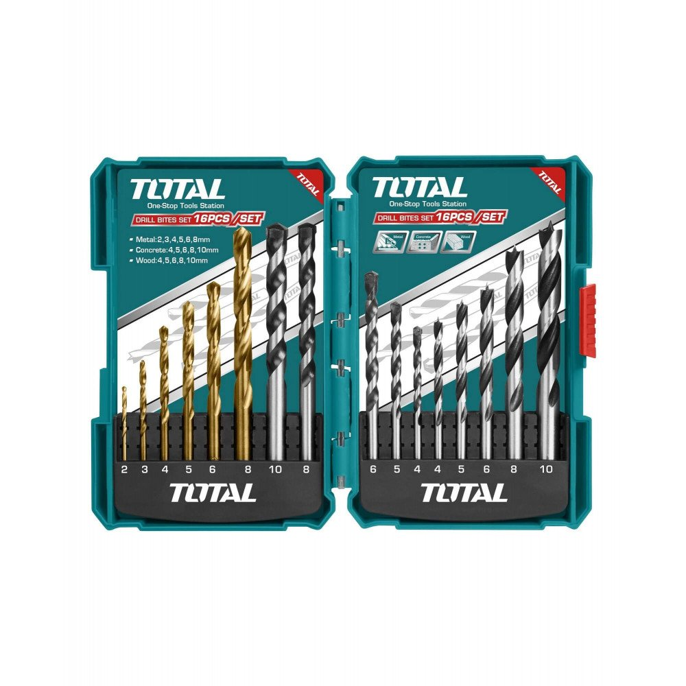 Set Brocas Multiuso 16 Unidades Total Tools TACSD6165