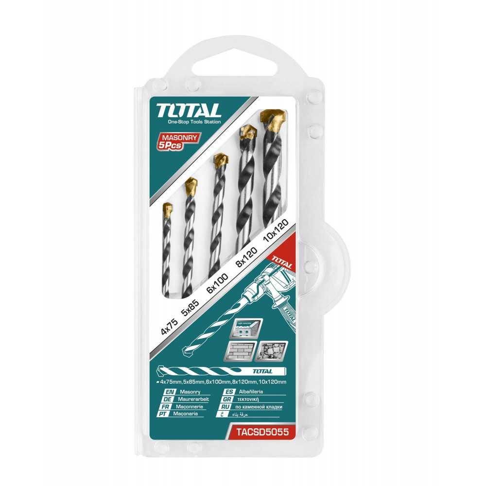 Set Brocas para Concreto 5 Unidades Total Tools TACSD5055
