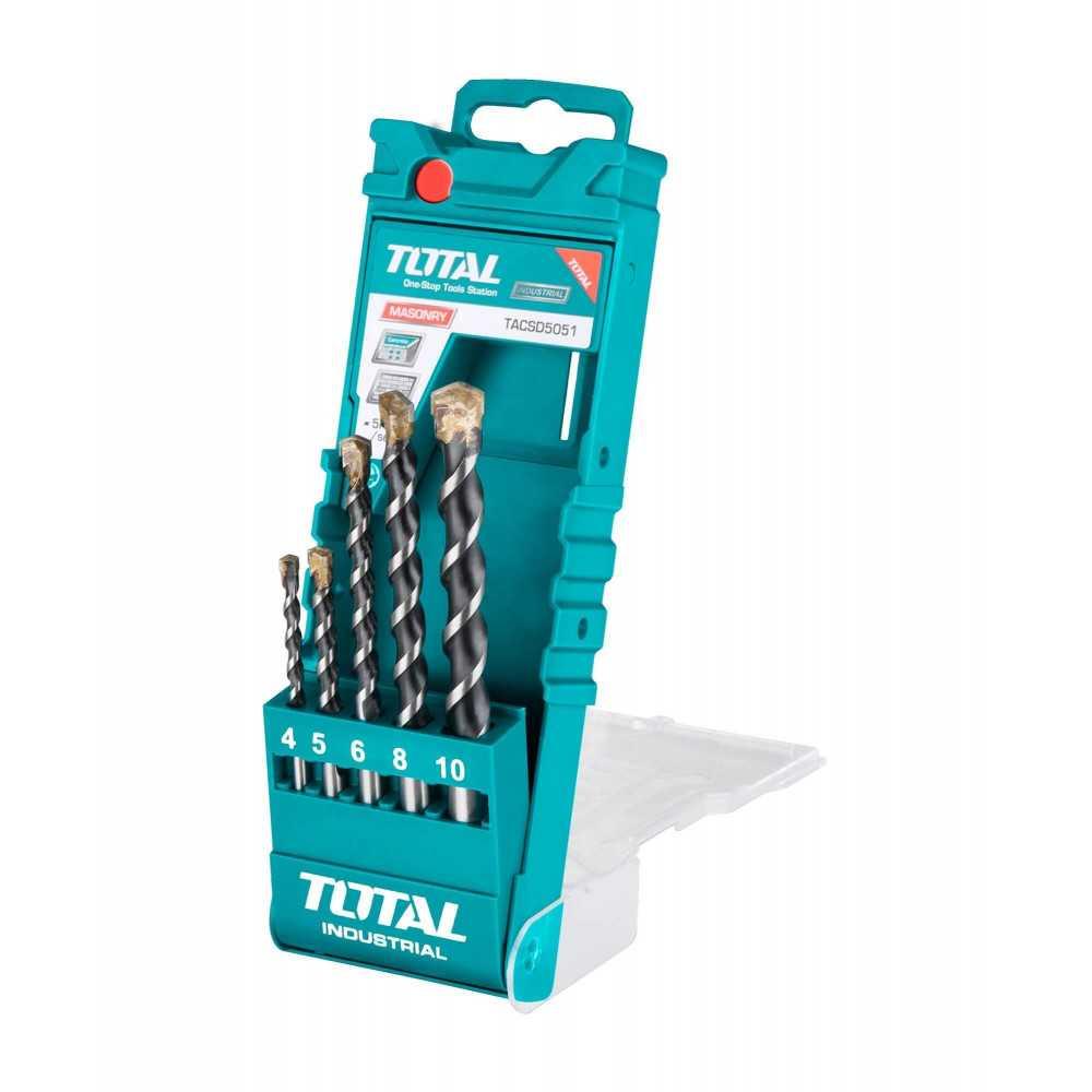 Set Brocas para Concreto 5 Unidades Total Tools TACSD5051