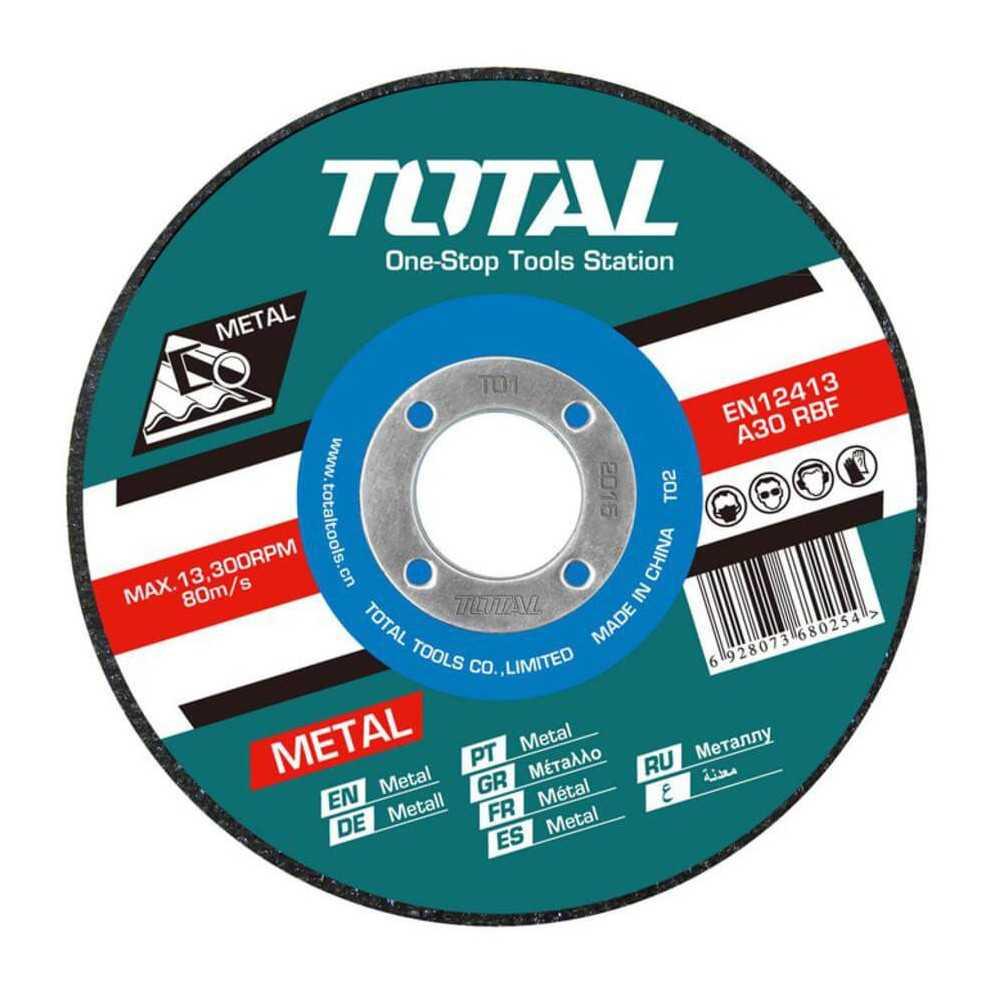 """Disco de Corte Metal 4-1/2"""" 1.6MM Total Tools TAC2211153"""
